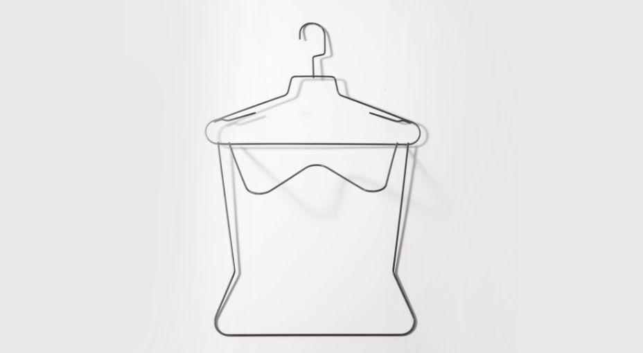 Porta vestaglia in filo metallico