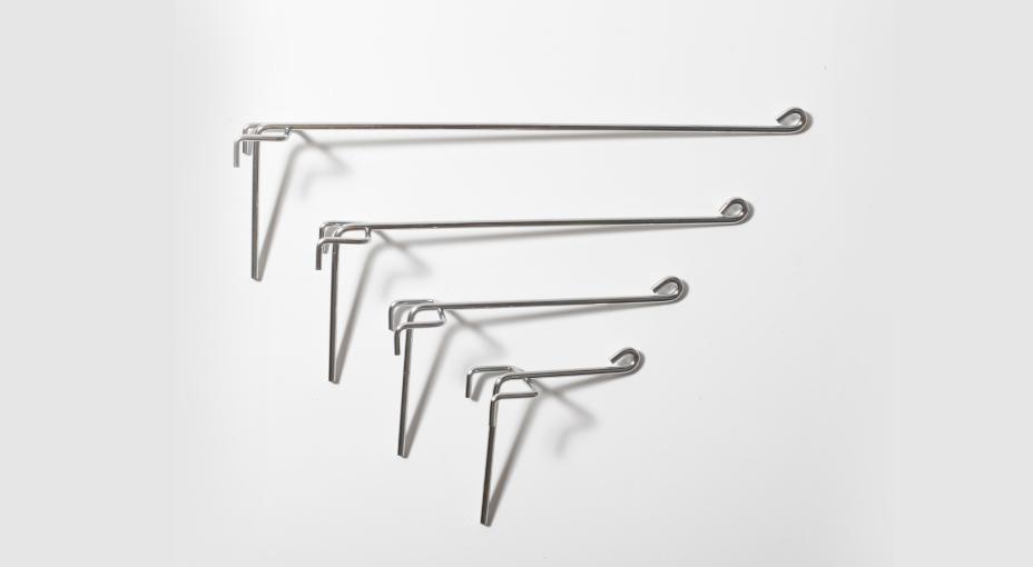 Ganci semplici in filo metallico