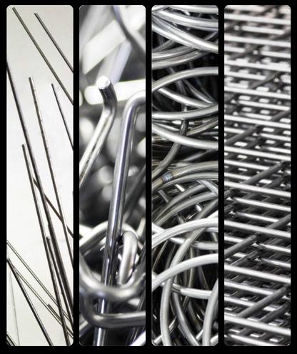 Particolari in filo metallico